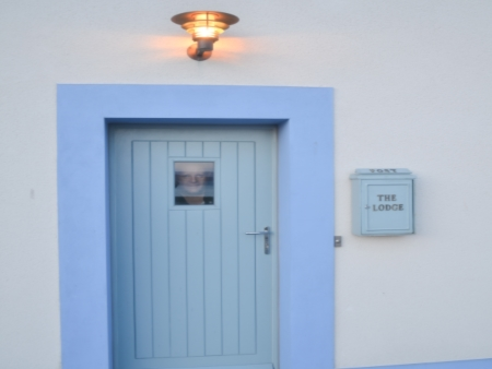 A welcoming entrance to The Lodge, Islay